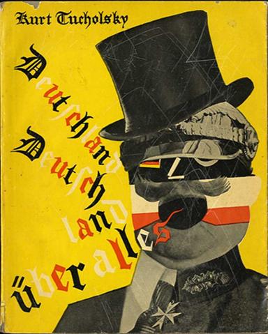La copertina originale di Deutschland, Deutschland über alles (1929), la famosa quanto controversa raccolta di feroci testi di Kurt Tucholsky, con le immagini di John Heartfield.