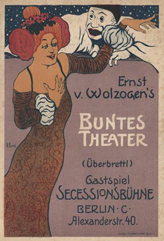 Locandina del Buntes Theater (Überbrettl)