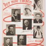 Locandina dello spettacolo Der rote Faden di Rudolf Nelson.