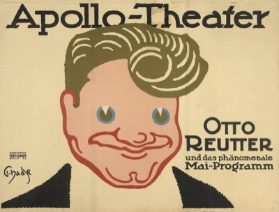 Otto Reutter in una locandina dell'Apollo-Theater di Berlino.