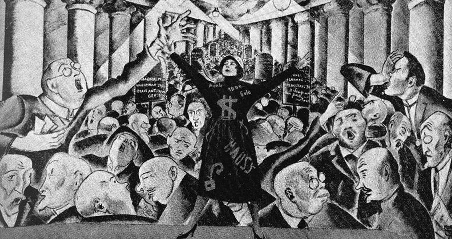 """Trude Hesterberg nell'intepretazione del """"Borsenlied"""" al Wilde Bühne."""