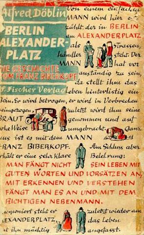 """La copertina della prima edizione di """"Berlin Alexanderplatz"""" di Alfred Döblin (1929)."""