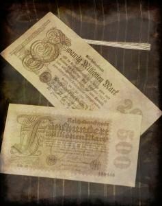Papiermark fino ai 500 milioni di Marchi (collezione privata F.C.N.)