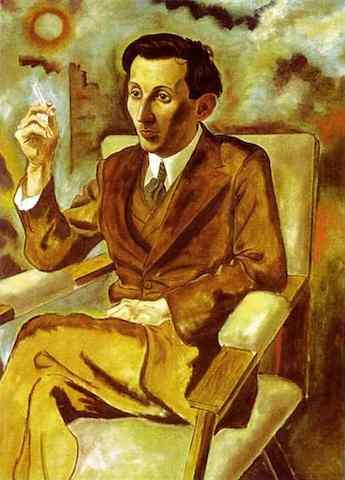 Ritratto di Walter Mehring. George Grosz, 1925. Olio su tela, cm 90 x 80. Conservato al Koninklijk Museum voor Schone Kunsten di Anversa, Belgio