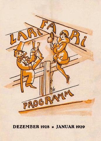 Programma di sala di uno degli spettacoli del Larifari