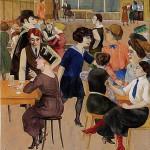 """Rudolf Schlichter, """"Damenknelpe"""", 1923"""