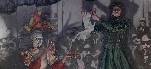 Roxana Halls: il cabaret olio su tela