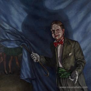 """Roxana Halls, """"Willkommen"""", 2005, olio su lino"""