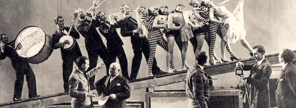 I protagonisti del cortometraggio Un Nelson spielt durante le risprese